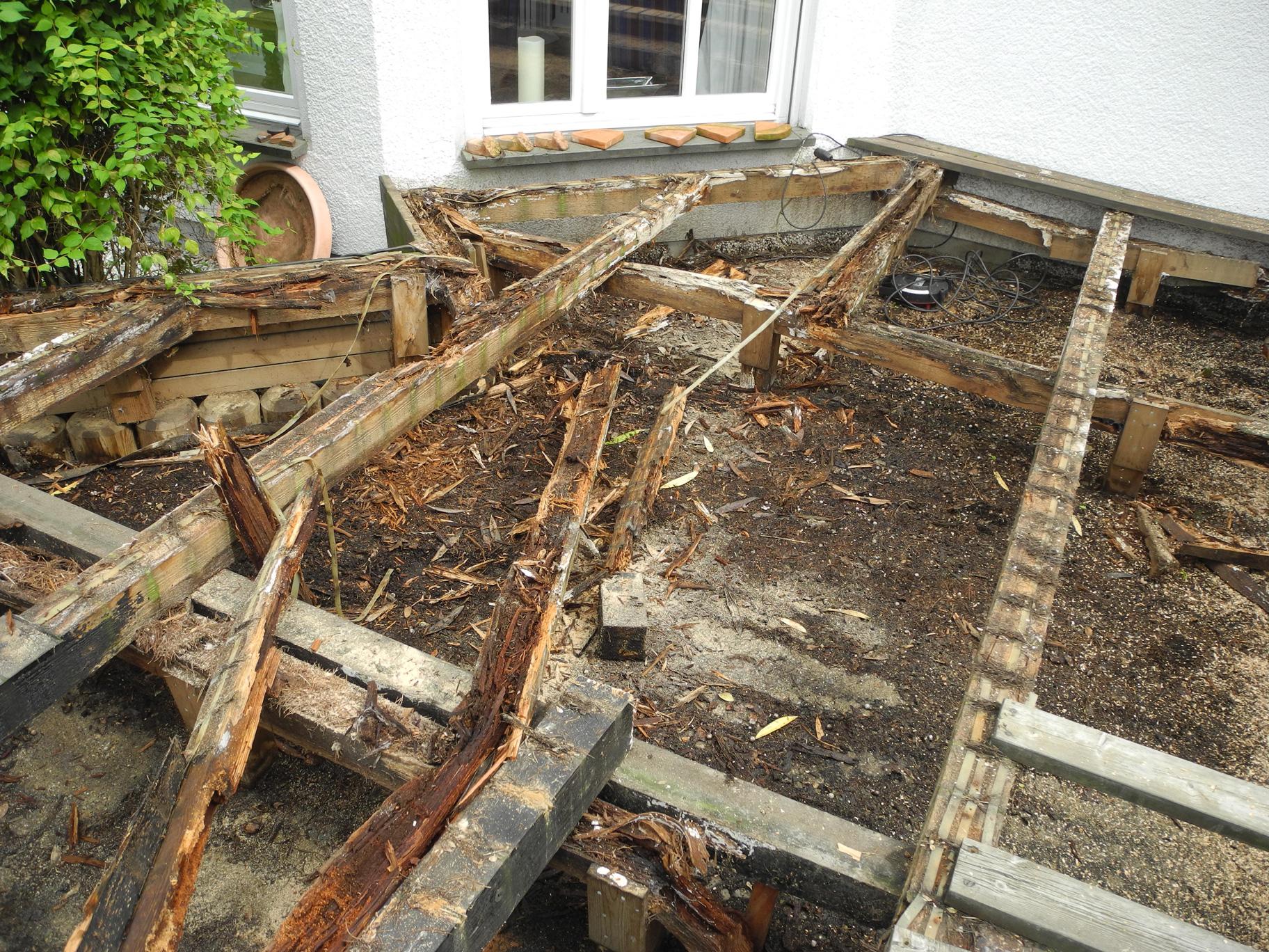 Ipe Holzterrasse Mit Treppenabgang Zum Garten Privathaus Bad Homburg
